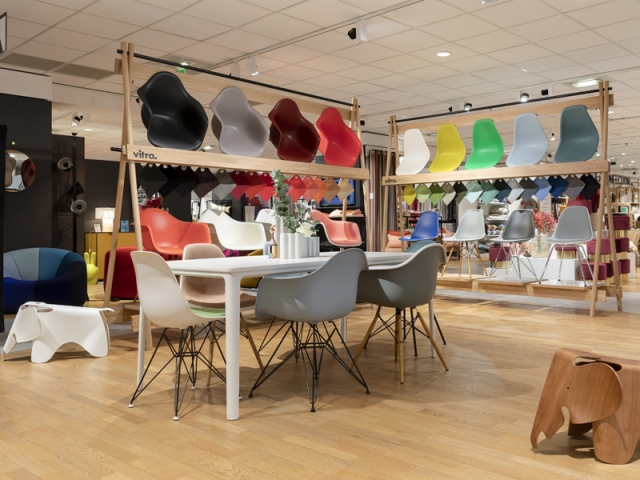 Le pop-up store Vitra au BHV-Marais à Paris