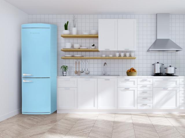 Un combiné bleu ciel de 190 cm qui offre la plus grosse capacité de stockage de la gamme.