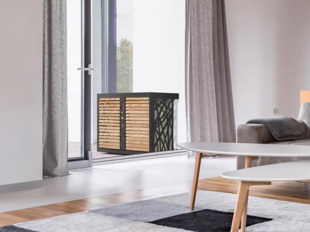 Cache-climatiseur alu-bois de pin PEFC Mixte performance, à partir de 379 €