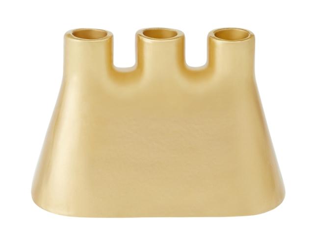 Chandelier doré double fonction en céramique, 35 €, tiré de la collection Nest signée Ionna Vautrin