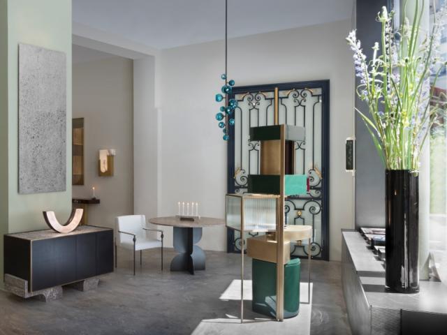 Le showroom parisien de la marque Pouenat