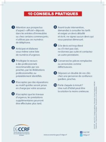 Les 10 conseils pratiques