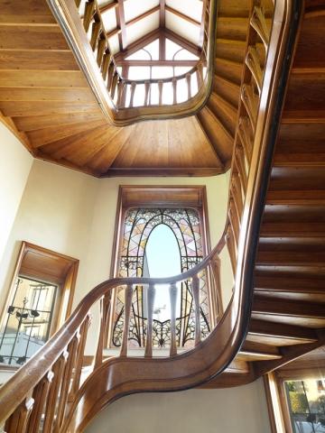 Villa Majorelle, cage d'escalier après restauration
