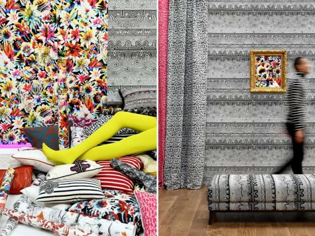 Des papiers peints et tissus coordonnés signés Jean Paul Gaultier