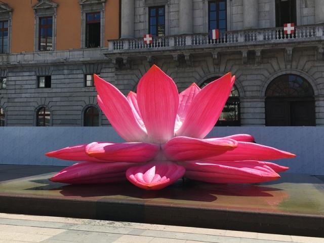 Breathing Lotus Flower, de Choi Jeong Hwa (Corée du Sud) à redécouvrir dans le cadre de Annecy Paysages 2020