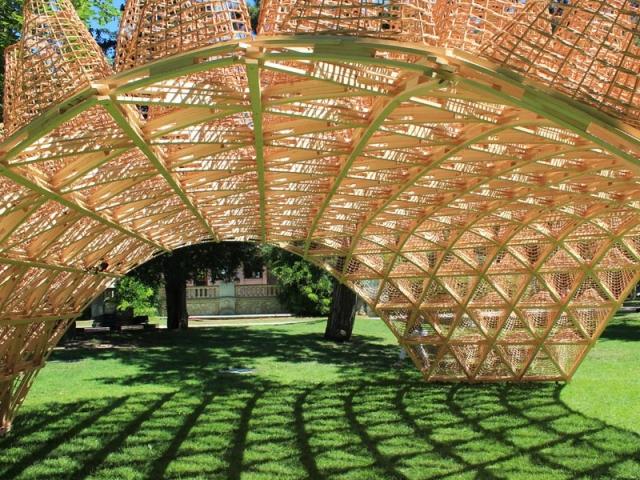 Wicker Pavilion, de Didzis Jaunzems (Lettonie) pour Annecy Paysages 2020
