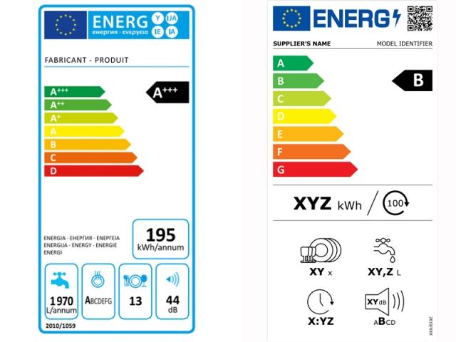 Comment comparer l'ancienne et la nouvelle étiquette énergie d'un lave-vaisselle ?