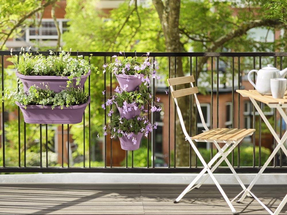 Des contenants adaptés aux plantes et à votre balcon