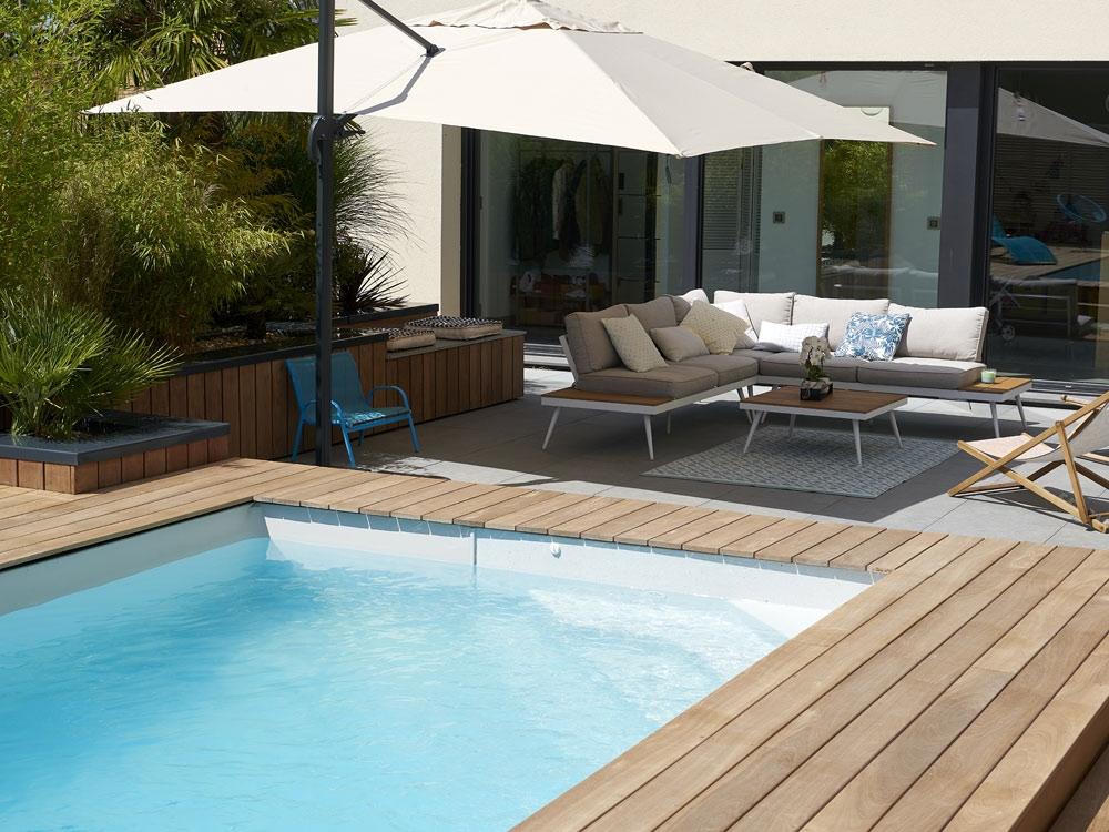Une mini-piscine pour les petits jardins