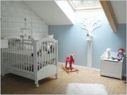 Une chambre bleue pour la petite Rose