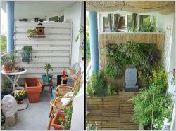 Un balcon en ville aménagé comme un vrai jardin