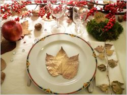 Une déco de table végétale pour Noël