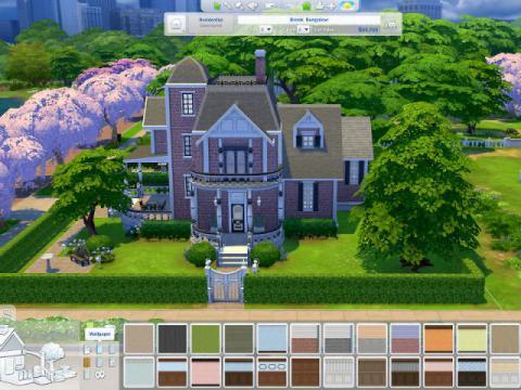 Maison conçue dans le jeu Les Sims 4 © EA